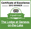 TripAdvisor Certificate of Excellence