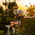 girl on a zipline